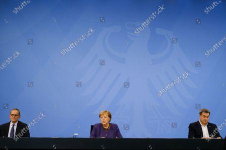 Stock Image of Michael Muller, Angela Merkel, Markus Söder