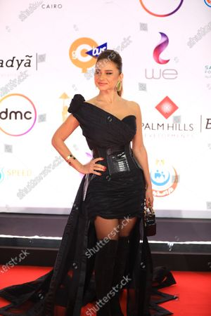Nelly Karim attends the opening ceremony of the 42nd Cairo International Film Festival (CIFF), in Cairo, Egypt, 02 December 2020. According to the organizers, the 42nd edition of the CIFF running from 02 to 10 December, will feature 16 titles on their international premieres in Cairo.