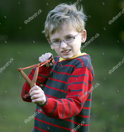 Editorial photo of 9 year old Jacob Rush who has complained to The Beano for making his hero Dennis the menace too nice, Ipswich, Suffolk, Britain - 09 Feb 2010
