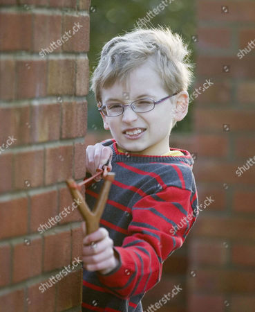 Editorial image of 9 year old Jacob Rush who has complained to The Beano for making his hero Dennis the menace too nice, Ipswich, Suffolk, Britain - 09 Feb 2010