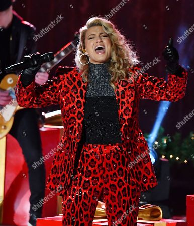 Singer Tori Kelly performs at the 88th annual Rockefeller Christmas Tree Lighting in New York City.