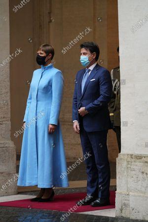 President of Estonia Kersti Kaljulaid with Italian Prime Minister Giuseppe Conte during the meeting
