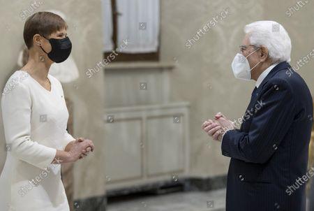 Editorial photo of Italian Republic President Sergio Mattarella meets President of Estonia, Quirinale, Rome, Italy - 02 Dec 2020