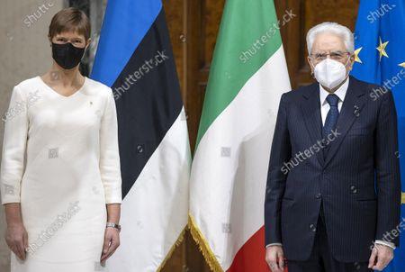 Editorial image of Italian Republic President Sergio Mattarella meets President of Estonia, Quirinale, Rome, Italy - 02 Dec 2020