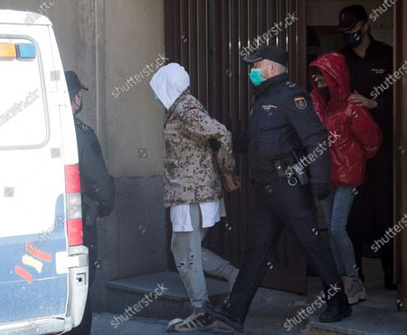 Flamenco dancer Rafael Amargo (L) is escorted by a policeman (2-L) to a police van in his way to appear before the court as suspect in a drug-trafficking case, in Madrid, Spain, 03 December 2020. Rafael Amargo was arrested last 01 December during a rehearsal of his lastest show at La Latina Theater in Madrid, together with his romantic partner and his producer after several raids were carried out in several Amargo's properties where it were found 60 grams of meth, 20 grams of ketamine and 6,000 euro cash, according to investigation sources.