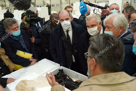Editorial picture of French Prime Minister Jean Castex meets with fishermen, Boulogne sur Mer, France - 03 Dec 2020