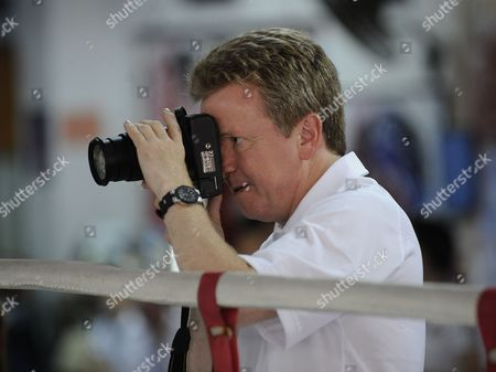Lord Colin Moynihan Takes Pictures Of The British Boxers On A Visit To Macau.