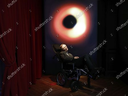 Wax figures of late British physicist Stephen Hawking is displayed during the presentation of the reopening of Barcelona Wax Museum, Spain, 03 December 2020. The museum features some 120 figures after a 6-million euro spent restoration.