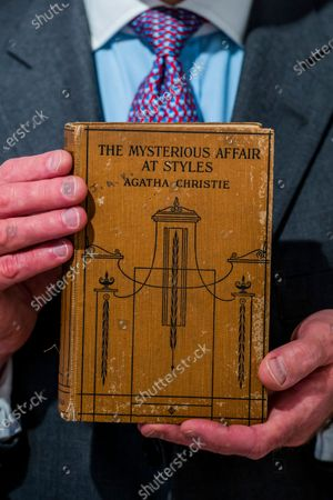 Agatha Christie, The Mysterious Affair at Styles. 1921, est £1,000, 1,500. First British edition of the 'Queen of Crime's' first novel as we approach the centenary of the debut of Hercule Poirot. Part of Valuable Books & Manuscripts, 9th December 2020 - A preview of Christie's Classic Week which includes 10 sales next week.