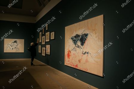 """TRACY EMIN, """"You were here like the ground underneath my feet"""", 2016. A landmark exhibition """"Loneliness of the soul"""" brings together for the first time the work of acclaimed British artist Tracey Emin (b.1963) and the Norwegian Expressionist Edvard Munch (1863-1944) at the Royal Academy of Arts"""