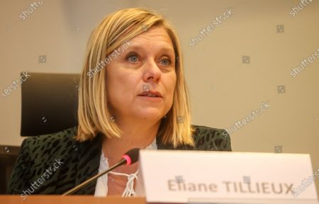 Chamber chairwoman Eliane Tillieux pictured during the presentation of an online platform to launch petitions, at the Chamber of the Federal Parliament in Brussels, Thursday 03 December 2020.