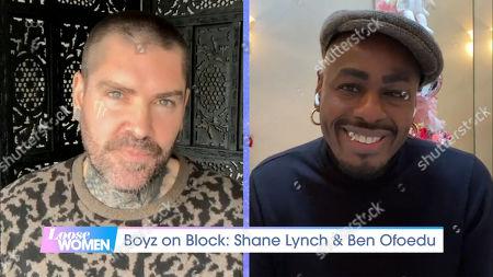 Stock Photo of Shane Lynch, Ben Ofoedu