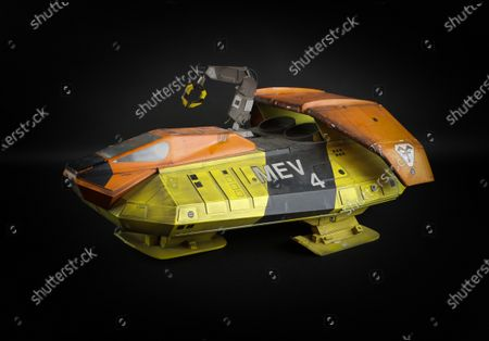 Stock Photo of A fibreglass production model of MEV used in the production of Terrahawks. The MEV can be seen in shots on the lunar surface when it faces the Space Cyclops sold for £4160    A huge hidden cache of Thunderbirds creator Gerry Anderson's production puppets, props and scripts have sold for £203,000.  They had belonged to the late John Bell, a driver and handyman at Bray Studios in Berkshire where the special effects for Anderson's shows were filmed. He was given hundreds of mementos by a senior director at Anderson's production company as they had no storage facilities for them.  The archive was uncovered following Mr Bell's death last year and went under the hammer with auctioneers Ewbank's, of Woking, Surrey. The sale sparked worldwide interest as it was feared many of these treasured items had ended up in a skip.