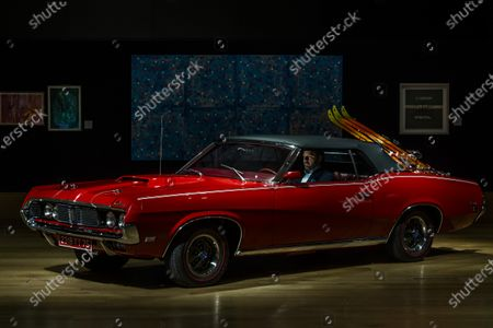 Stock Image of 1969 Mercury Cougar XR7 convertible, which had a starring role in the classic 'Bond film' On Her Majesty's Secret Service, estimate of £100,000 - 150,000. In the motion picture, the Cougar was owned by 'Bond Girl' Contessa Teresa (Tracy) di Vicenzo played by the late Dame Diana Rigg - Preview of Bonhams' Motors sale. This Bonhams Bond Street Sale will take place on Wednesday 16 December, starting with automobilia at 5pm with the motor cars sale to follow.