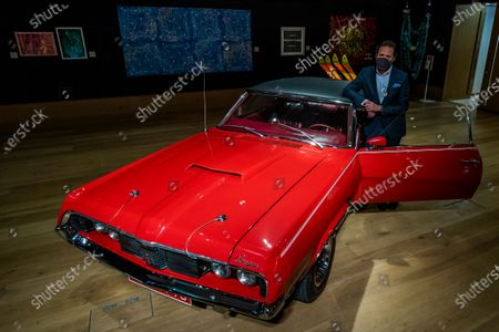 Stock Picture of 1969 Mercury Cougar XR7 convertible, which had a starring role in the classic 'Bond film' On Her Majesty's Secret Service, estimate of £100,000 - 150,000. In the motion picture, the Cougar was owned by 'Bond Girl' Contessa Teresa (Tracy) di Vicenzo played by the late Dame Diana Rigg - Preview of Bonhams' Motors sale. This Bonhams Bond Street Sale will take place on Wednesday 16 December, starting with automobilia at 5pm with the motor cars sale to follow.