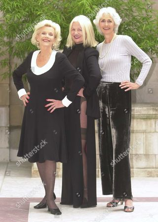 Honor Blackman With Models Jibby Beane (centre) And Jane Gilfillan At The 'great To Be Grey' Conference. Words Richard Alleyne.
