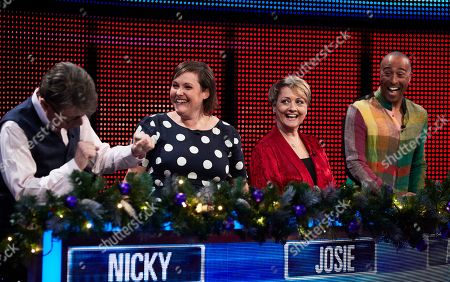 (L-R) Nicky Campbell, Josie Long, Anne Diamond and Colin Jackson