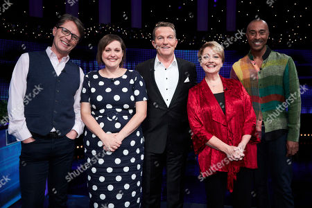 (L-R) Nicky Campbell, Josie Long, Bradley Walsh, Anne Diamond and Colin Jackson