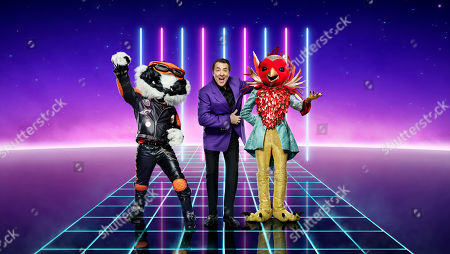 Stock Picture of Badger, Jonathan Ross and Robin.