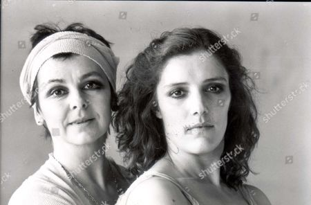 Portrait Of Actress And Dancer Lynn Seymour With Lucy Burge.