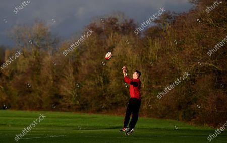 Liam Williams during training.