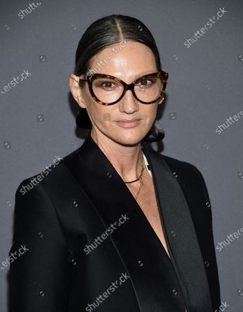 """Jenna Lyons attends the amfAR Gala New York AIDS research benefit in New York on . The former J. Crew President and Creative Director has pivoted, and is now building her own brand on reality TV. Her new HBO Max show, """"Stylish with Jenna Lyons,"""" which brings her design acumen to home, fashion and beauty projects, launches this week"""