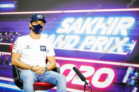 Pierre Gasly, AlphaTauri, in the Press Conference  during the 2020 Formula One Sakhir Grand Prix