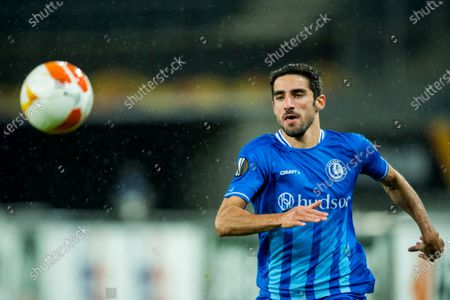 Gent's Milad Mohammadi pictured in action during a soccer game between Belgian club KAA Gent and Czech team Slovan Liberec FC, Thursday 03 December 2020 in Gent, on day 5 of the group phase (group L) of the UEFA Europa League competition.