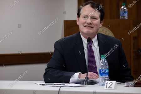 Stock Photo of President Trump's lawyer Ray Smith is seen inside of the Georgia State Capitol in Atlanta, Georgia during an election hearing on December 3rd.