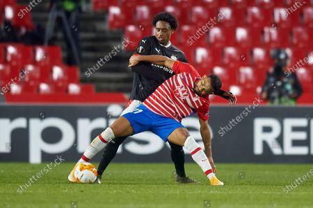 Stock Photo of Luis Suarez of Granada CF and Pablo Rosario of PSV Eindhoven
