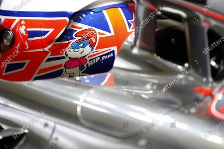 2014 F1 Pre Season Test 1 - Preview Circuito de Jerez, Jerez, Spain. Wednesday 29 January 2014. Jenson Button, McLaren, tribute to John Button. World Copyright: Glenn Dunbar/LAT Photographic.