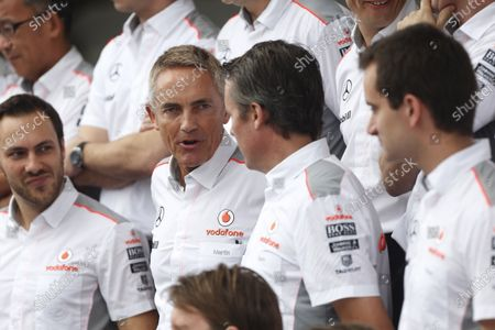 Interlagos, Sao Paulo, Brazil. Saturday 23rd November 2013.  Martin Whitmarsh, Team Principal, McLaren, talks to Sam Michael, Sporting Director, McLaren. World Copyright: Andrew Ferraro/LAT Photographic.