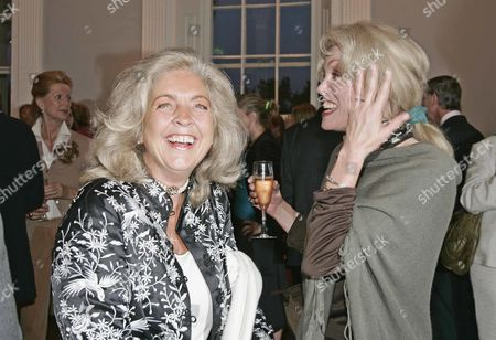 Editorial picture of Lucy Hemmings The Widow Of Actor David Hemmings And Joanna Lumley At The Launch Of David Hemming' Autobiography Called 'blow-up And Other Exaggerations ' Which Was Launced At The Ica On The Mall.