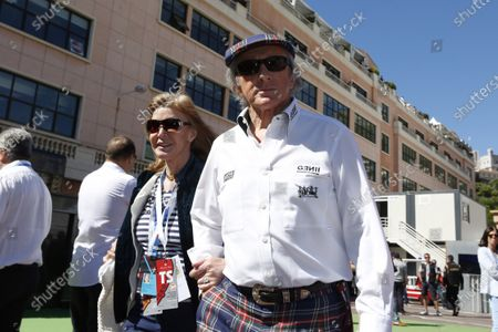 Monte Carlo, Monaco 26th May 2013 Sir Jackie and Lady Helen Stewart.  World Copyright: Charles Coates/LAT Photographic