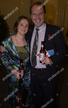 Editorial picture of Lib Dem Mp Simon Hughes With Jenny Reid At The Us Embassy.