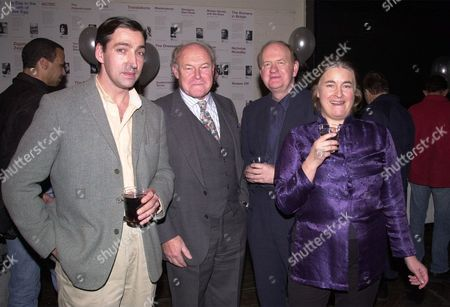 (l-r) Miles Richardson Timothy West Oliver Ford-davies & Jennifer Armitage At The National Theatre Party Celebrating A Centenary Of Plays.