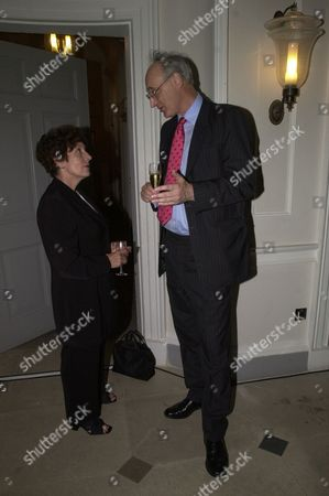 Stock Image of Former Ministers Gillian Shephard (now Baroness Shephard Of Northwold) And Sir George Young At Michael Heseltine's Book Launch Party At Somerset House London.