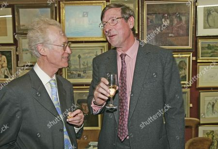 Bamber Gascoigne In Conversation With Former Evening Standard Editor Sir Max Hastings At The Launch Of His New Book.