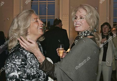 Stock Photo of Lucy Hemmings The Widow Of Actor David Hemmings And Joanna Lumley At The Launch Of David Hemming's Autobiography Called 'blow-up And Other Exaggerations ' Which Was Launced At The Ica On The Mall.