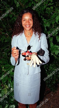 Actress Jaye Griffiths At The Emi Party.