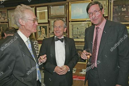 Bamber Gascoigne And Simon Jenkins In Conversation With Former Evening Standard Editor Sir Max Hastings At The Launch Of His New Book.