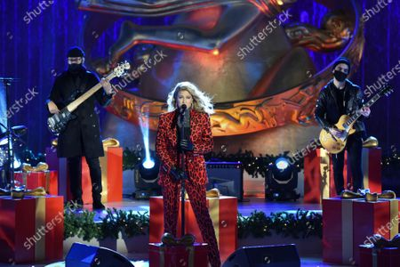 Tori Kelly performs at the 88th Rockefeller Center Christmas Tree Lighting Ceremony, in New York. The lit tree will be on display starting Thursday, December 3, through early January 2021 and will also will be livestreamed each day from 8 am to midnight at rockefellercenter.com