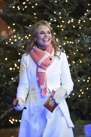 """Stock Picture of Savannah Guthrie co-hosts """"Christmas in Rockefeller Center"""" during the 88th Rockefeller Center Christmas Tree Lighting Ceremony, in New York. The lit tree will be on display starting Thursday, December 3, through early January 2021 and will also will be livestreamed each day from 8 am to midnight at rockefellercenter.com"""