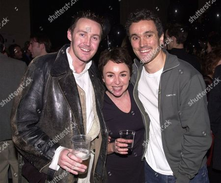 Mark Leadbetter Sam Spiro And Ben Miles At The National Theatre Party Celebrating A Centenary Of Plays.