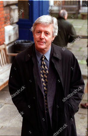 Editorial picture of Michael Aspel At A Memorial For Actress Beryl Reid.