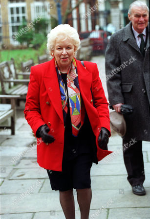 Editorial image of June Whitfield At A Memorial For Actress Beryl Reid.