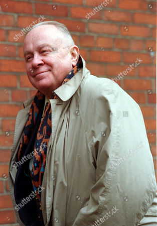 Editorial photo of Ned Sherrin At A Memorial For Actress Beryl Reid.