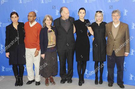 Jury members Francesca Comencini, Nuruddin Farah, Cornelia Froboess, Werner Herzog, Yu Nan, Rene Zellweger and Jose Maria Morales