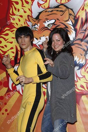 Bruce Lee wax figure and daughter Shannon Lee