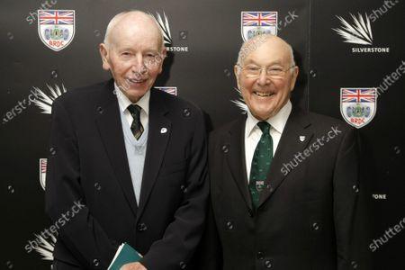 Grand Connaught Rooms, London, England. 3rd December 2012. John Surtees and Murray Walker. World Copyright: Jakob Ebrey/LAT Photographic